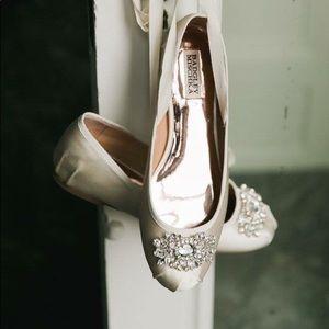NIB Badgley Mischka Karter II Lace-Up Ballet Flats